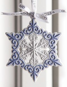 Wedgwood 2013 Pierced Snowflake Ornament