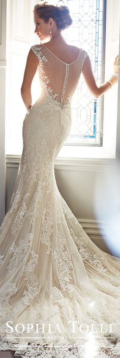 The Sophia Tolli Wedding Dress Collection - Style No. Y21432 Leigh www.sophiatolli.com #weddingdresses #weddinggowns