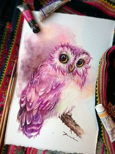Most current Pic rose drawing illustration Style In this particular lessons, we can take a look at precisely how to attract a went up having pastels. We are utilizing p Owl Watercolor, Watercolor Paintings, Owl Paintings, Watercolor Owl Tattoos, Animal Drawings, Art Drawings, Drawing Owls, Owl Drawing Color, Pencil Drawings