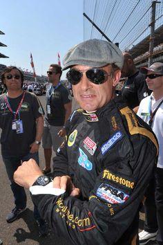 Racer Jean Alesi wearing F.P. Journe's Octa Sport Indy 500