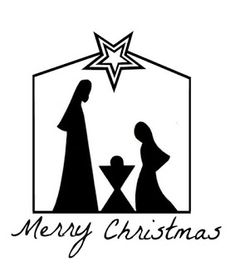 embroideried nativity silhouette A Son Is Given. The silhouettes are cut out of different fabric and embroidered around, and the rest is just line embroidery. Christmas Manger, Christmas Nativity Scene, Christmas Art, Christmas Holidays, Christmas Decorations, Christmas Ornaments, Christmas Templates, Christmas Printables, Diy Natal