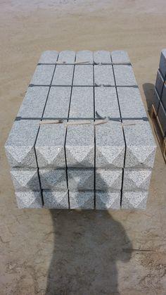 Granit Zaun Element, Gesaegte Palisade