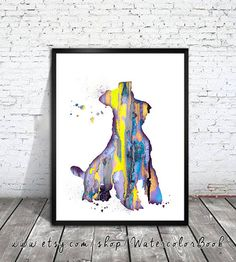 Schnauzer 3 Watercolor Print, animal art, dog watercolor, watercolor painting, animal watercolor, Schnauzer art,dog art,dog poster by WatercolorBook on Etsy https://www.etsy.com/listing/231439185/schnauzer-3-watercolor-print-animal-art