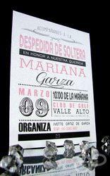 Invitación Moderna Vintage para Despedida de Soltera  www.alepineda.com