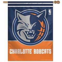 Charlotte Bobcats Flag - Vertical 27X37 Outdoor House Flag
