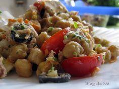 Receita Entrada : Salada de grão-de-bico de Nomartins