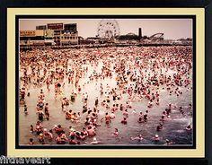 Coney Island Brooklyn New York 1950 Color Photograph scene Print A+Quality Brooklyn New York, Coney Island, Landscape Art, Worlds Largest, Photograph, Scene, Art Prints, Ebay, Color