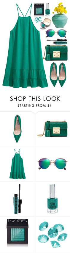 """""""#100"""" by tash005 ❤ liked on Polyvore featuring SJP, Gucci, Dolce&Gabbana, H&M, MAC Cosmetics, New Look, NARS Cosmetics and Blue La Rue"""