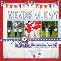 4th of July Mini-Theme Layout by Creative Team Member Miki Krueger
