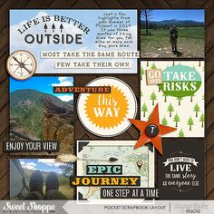Adventure-This-Way by Stacia Hall - Go Your Own Way and Great Outdoors: Escape by Kristin Cronin-Barrow; EZ Albums v8 and EZ Album v8 - Stitches by Erica Zane; Custom Font