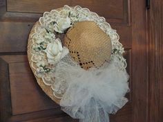 Decorated Straw Hat Table Centerpiece/ Wall by SimplifyMyWorld