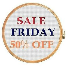 Excited to share the latest addition to my #etsy shop: Black Friday SALE! 50% OFF for ALL Cross Stitch Ptterns http://etsy.me/2jSJmWB