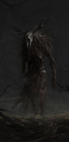 Monster Concept Art, Fantasy Monster, Monster Art, Witcher Art, The Witcher 3, Dark Creatures, Fantasy Creatures, Arte Horror, Horror Art