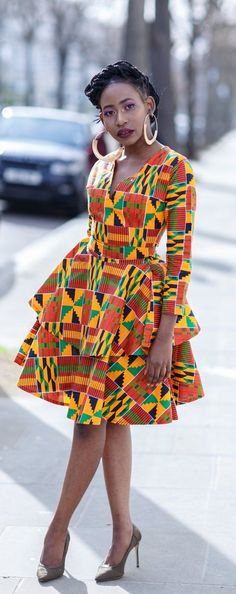 Best African Print Dresses [& where to get them] Who would have thought that African print clothes would look this good? Check out this stunning ankara print dress from this phenomenal designer. From ankara Dutch wax, Kente, to Kit African Party Dresses, Latest African Fashion Dresses, African Dresses For Women, African Print Dresses, African Print Fashion, African Attire, African Prints, African Dresses Plus Size, African Fashion Designers