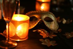 Masquerade with Jonathan Adler by PartyLite Santorini Hurricanes #masquerade  #santorini #partylite