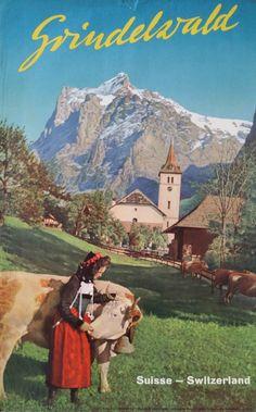 1960s Grindelwald Switzerland  Original Vintage by OutofCopenhagen