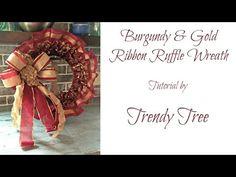Ruffled Ribbon Wreath Tutorial - Trendy Tree Blog