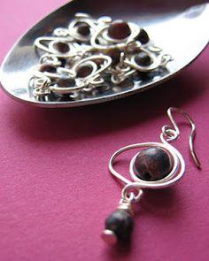 iszie Boucles d/'oreilles pendantes avec tige et chaine en argent sterling