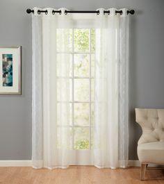 Jaclyn Love Faux Silk 84 Inch Curtain Panel Pair