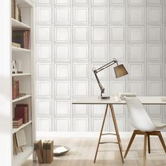 A wood panel effect wallpaper from Rasch for adding a modern touch to any home this season. Available to buy at Go Wallpaper UK.