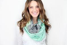 Antique Color Block Infinity Scarf