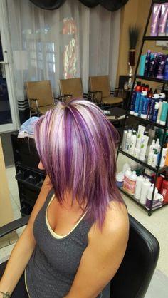 Purple blonde highlights