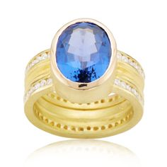Custom Tanzanite Ring by Barbara Heinrich at Spectrum Art & Jewelry