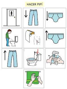 Autismus Arbeitsmaterial: Bilder: Toilette benutzen