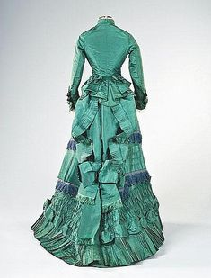 visiting gown, circa 1875