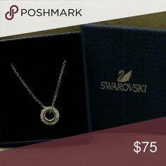 Swarovski Circle Crystal Necklace Like New Condition Swarovski Jewelry Necklaces