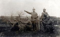 Uffz. Kleber and men from Kgl. Bayer. 8. Infanterie-Regiment Großherzog Friedrich II. von Baden.