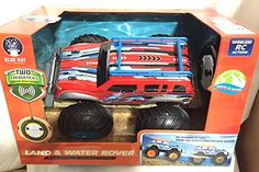 Blue Hat Land & Water Rover Radio Controlled Amphibious Vehicle, Truck