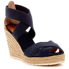 ead90358e67 Joy   Mario Lola Espadrille Wedge Sandal ( 40) ❤ liked on Polyvore  featuring shoes