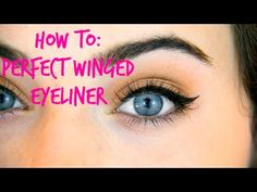How To Achieve: Perfect Winged Eyeliner ❤  Who says we cannot learn from the young?