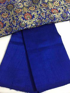 Pure raw silk saree with kim kwab blouse