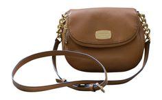 Michael Kors Leather Bedford Flap Crossbody Handbag, Acorn