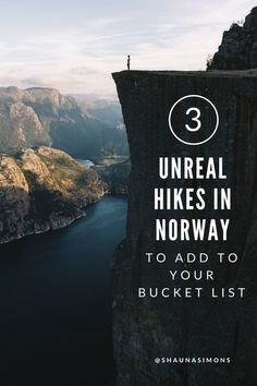 3 Unreal Hikes in Norway to Add To Your Bucket List Cool Places To Visit, Places To Travel, Travel Destinations, Traveling By Yourself, Lofoten, Hiking Europe, Travel Europe, European Travel, Travel Guides