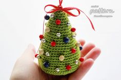 New Crochet Pattern – Little Colorful Christmas Trees