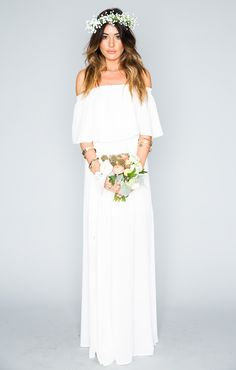 Hacienda Maxi Dress - Ivory Crisp | Show Me Your MuMu