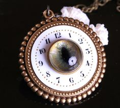 Steampunk Necklace Eye Watch You All The Time Evil by DesignsBloom