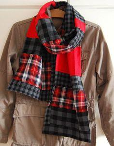 flannel patchwork scarf diy blog fashion spring