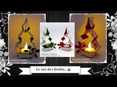 Deco Table Noel, Xmas, Christmas Ornaments, Christmas Ideas, Kirigami, Quilling, Stampin Up, Table Lamp, Activities
