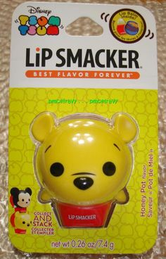 1 Disney TSUM TSUM Stackable Lip Smacker Winnie the Pooh Honey Pot Lip Balm EOS #LipSmacker