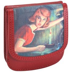 TAXI WALLET by Owl Nancy Drew Red Recycled Leather Womens Compact Cards Coin Wallet ** Check out this great product.