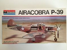 Monogram Airacobra P-39 1/48 Scale Model Kit Vintage Toy Military Airplane