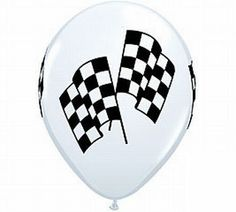 12 Checkered Racing Flag Balloons by Qualatex: Great for your Racing, NASCAR or Indy Car Party or Event! Dirt Bike Party, Motorcycle Party, Race Car Party, Nascar Party, Qualatex Balloons, Helium Balloons, Motocross, Bmx, Grand Prix