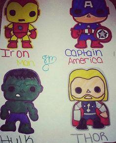 Cartoon Avengers Drawing