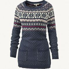 Fleur Pattern Knit Tunic at Fat Face