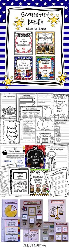 This is a very huge, very comprehensive bundle, complete with not only 3 large units but, a Government interactive notebook to go with the units! The included government units are the Articles of Confederation, The Constitution, and the Three Branches of