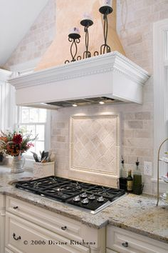 Tumbled Marble Backsplash Design, Pictures, Remodel, Decor and Ideas - page 2
